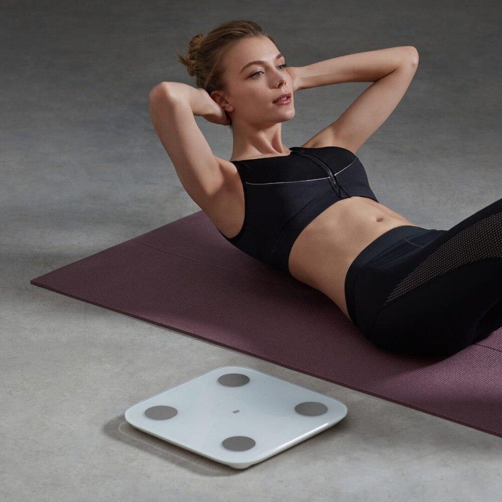 Original Xiaomi MIjia Composition intelligente échelle de graisse corporelle 2 Bluetooth 5.0 Test d'équilibre 13 Dates du corps imc taux musculaire échelle de santé - 5