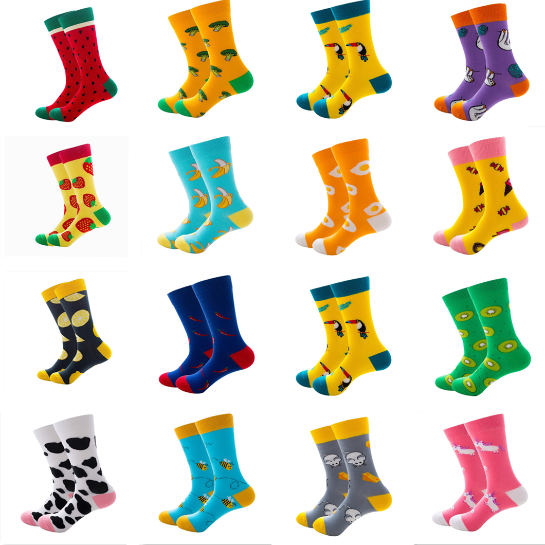Men Crew Combed Cotton Anti Bacterial Socks Long High Gift Sock