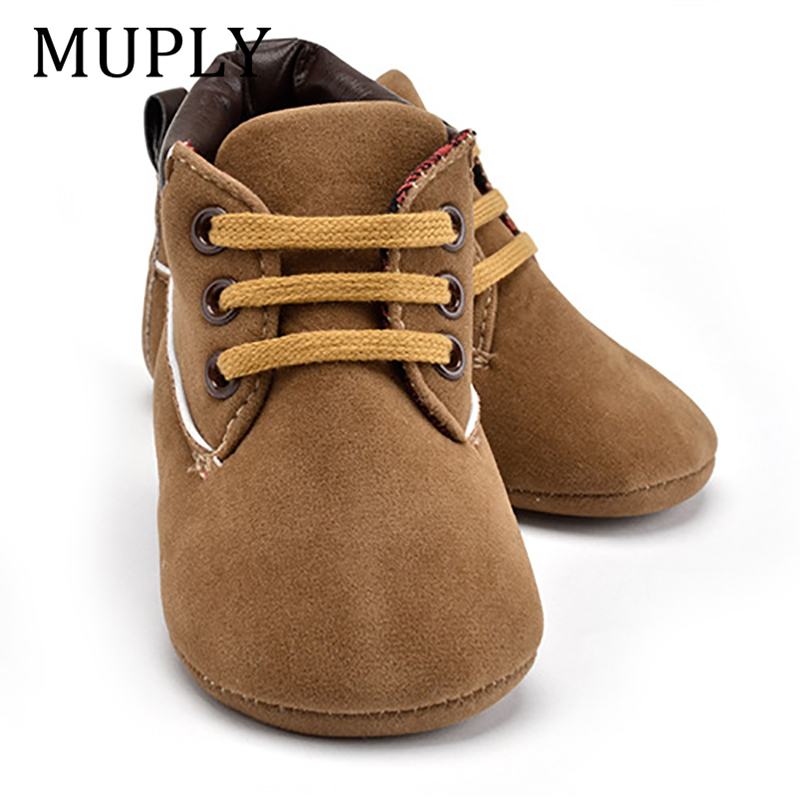 Newborn Baby Boys Girls Classic First Walkers Shoes Infant Toddler Soft Soled Boots Cute Vintage Baby Casual Shoes
