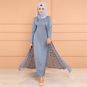 WEPBEL Макси Дубай сплошное платье длиной до пола Abaya с длинным рукавом без хиджаба облегающее высококачественное элегантное мусульманское пл...