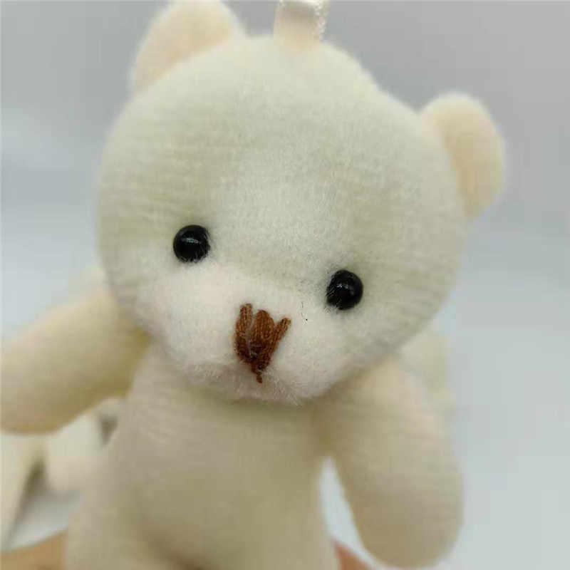 3 sztuk/partii mały pluszak zabawki-niedźwiadki mały wisiorek śliczne diamentowe niedźwiedzie lalki miękkie wypchana zabawka dla dzieci dziewczyny prezent 12CM