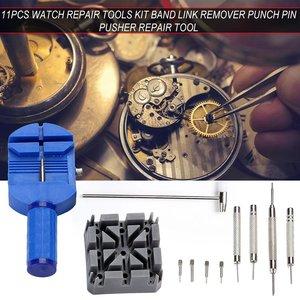 11 шт. набор инструментов для ремонта часов, портативный ремешок для часов, инструмент для удаления пружинных штифтов