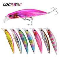 HOT 30g 95mm Minnow Sea tuna fishing lures sink trolling pike bass Artificial bait whopper plopper swimbait pesca japan tackle
