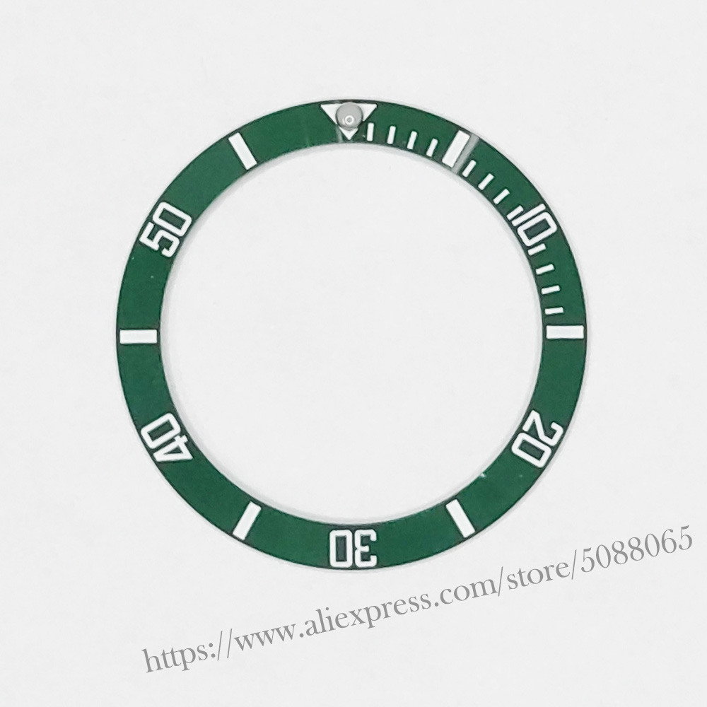 Black/Blue/Green Mens Watches Replace Accessories Watch Face Ceramic Bezel Insert For 40mm Submariner Automatic 38mm 01