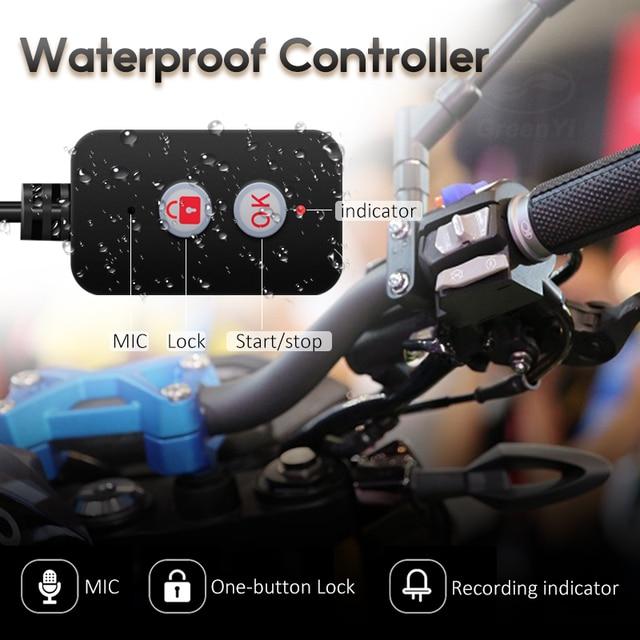 GreenYi WiFi Motorcycle DVR Dash Cam 1080P+1080P Full HD Front Rear View Waterproof Motorcycle Camera GPS Logger Recorder Box 4