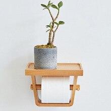 Soporte de papel higiénico para baño caja de papel higiénico para el hogar tubo de papel madera Simple portarrollos de baño
