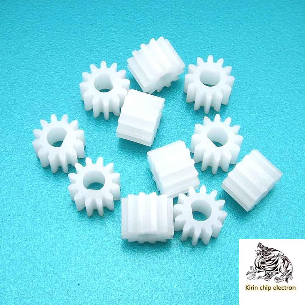 20PCS/LOT 1012DF Gear 3mm D Hole 12 Teeth Plastic Gear External Gear Hard Tooth Surface Plastic Gear D-type