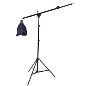 Image 1 - Foto Studio 2M 2 in 1 Licht Stand mit 1,4 M Boom Arm Und Leere Sandsack Für unterstützung Softbox Beleuchtung Fotografie Stativ