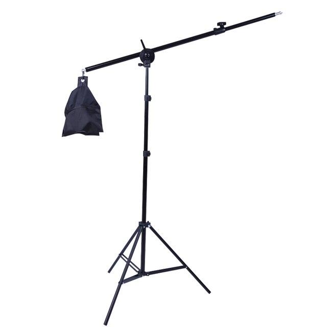 Soporte de luz 2 en 1 para estudio fotográfico, 2M, con brazo de soporte de 1,4 M y bolsa de arena vacía para soporte de Softbox, iluminación, trípode de fotografía