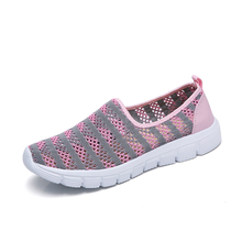 2020 New Summer Women Shoes Women's Shoes on a Flat Breathable Mesh Sneakers Shoes Ballet Flats Ladies Slip On Flats Loafers