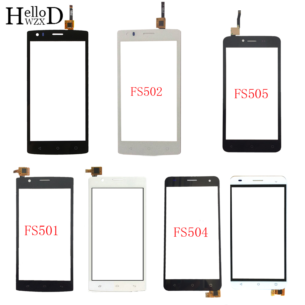 Touch Screen Digitizer Panel For Fly FS501 FS502 FS504 FS505 TouchScreen Front Glass Lens Sensor Touch Screen 3M Glue Wipes