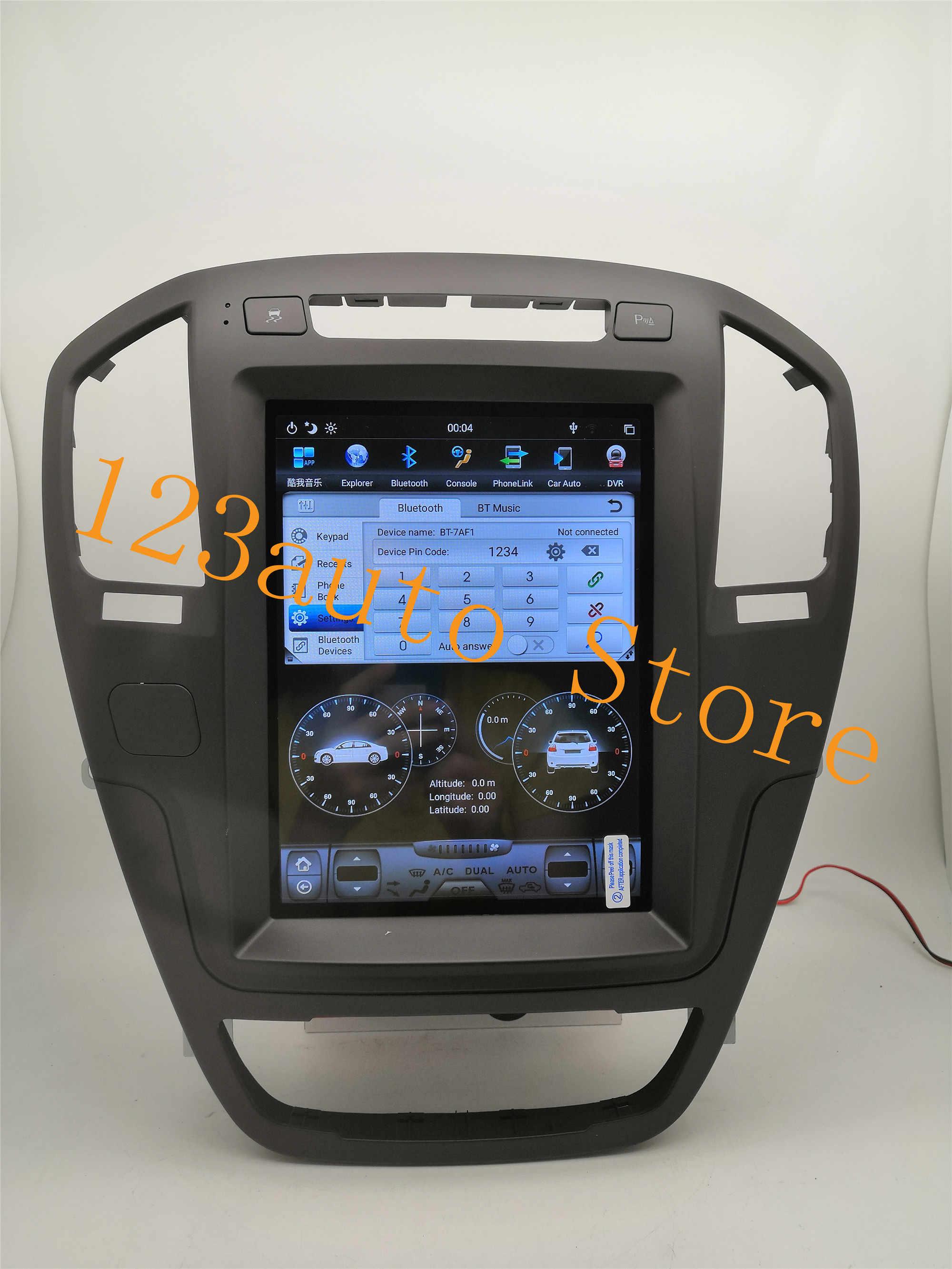 10,4 ''вертикальный Tesla стиль Android 8,1 автомобильный DVD gps плеер для Opel Insignia Vauxhall Holden CD300 CD400 2009-2013 PX6 HDMI