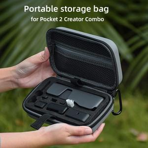 Image 2 - Hard Shell EVA Waterproof Portable Carrying Case Bag with Carabiner Shockproof Handheld Gimbal Camera Case Bag for DJI Pocket 2