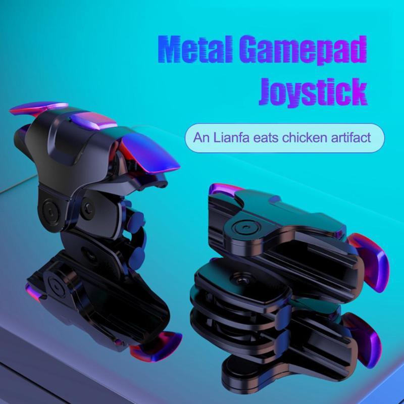 1 paar Neueste Pubg Joystick L1R1 Trigger Ziel Schlüssel Kostenloser Feuer Taste Gaming Zubehör Mobile Gamepad Game Controller für Pubg