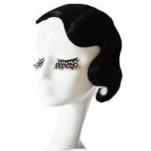 Одна упаковка из 2 шт., черная волнистая пристегиваемая челка для наращивания волос с высокой температурой синтетического волокна