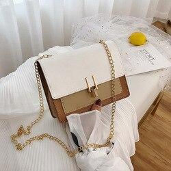 Bolsa de designer de moda britânica simples pequena praça bolsa feminina 2020 alta qualidade couro do plutônio corrente do telefone móvel sacos de ombro