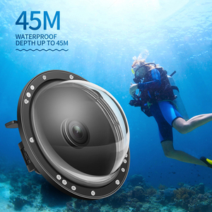 Image 5 - לירות 6 כפולה כף יד כיפת יציאת עמיד למים צלילה דיור מקרה כיסוי עם טריגר עבור DJI אוסמו פעולה מצלמה עדשה אבזרים