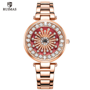 Ruimas Montre Femme Gold Bracelet Women Watches