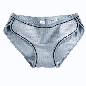 Image 5 - Vrouwen Katoenen Slipje Sexy Onderbroek Set Ondergoed Lingerie Intimi Huidvriendelijke Slips Meisjes Knickers Dropshipping 3 Stks/partij