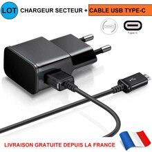 For Cable Type-c Chargeur +secteur Usb Pr Redmi Note 7/8/pro Mi 8 Mi 9/lite/9t Mi A3
