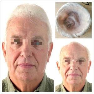 Hstonir полный французский парик шнурка индийские волосы remy мужчины зажим для парика система Невидимый узел H074