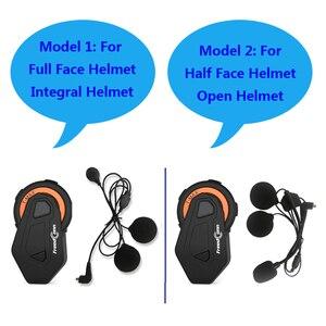 Image 2 - Freedconn t max intercomunicador de motocicleta, para capacete, bluetooth, headset, 6 pilotos, grupo de conversação, rádio fm, bluetooth 4.1