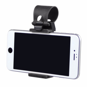 Universal Car Phone Holder Steering Wheel Bike Clip Mount Mobile Phone Stand Socket For Samsung iPhone Redmi Xiaomi Note 3 4 5 6 image