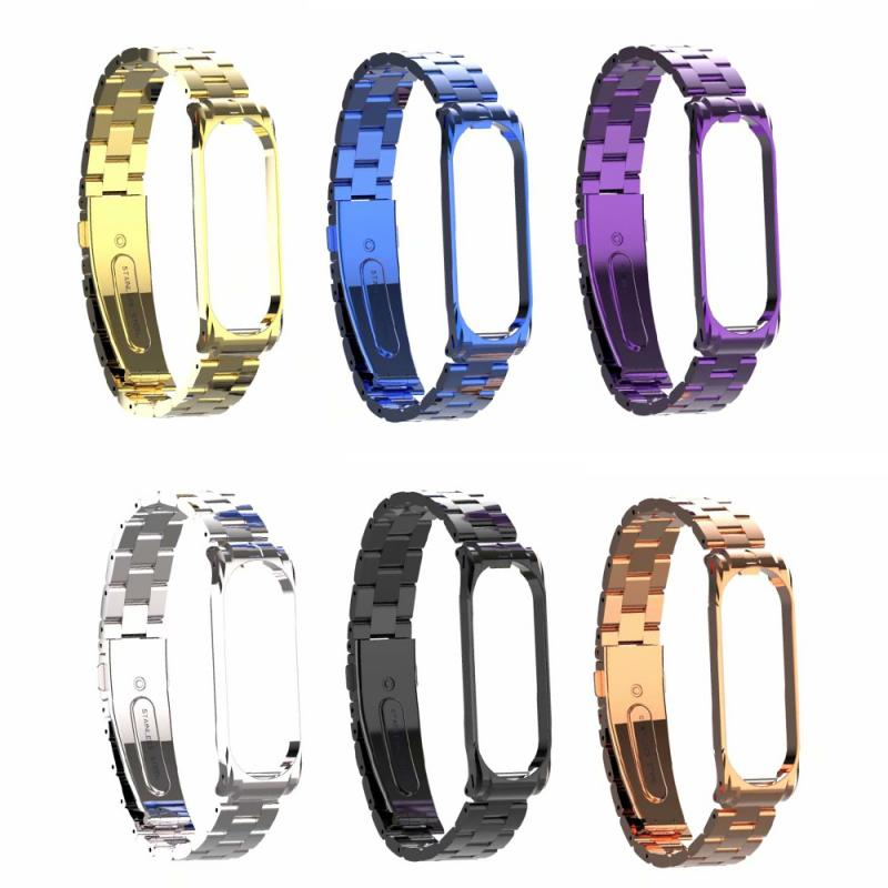 Metal Strap For Xiaomi Mi Band 4 Screwless Stainless Steel Bracelet Wristbands Replace Accessories For Mi Band 4