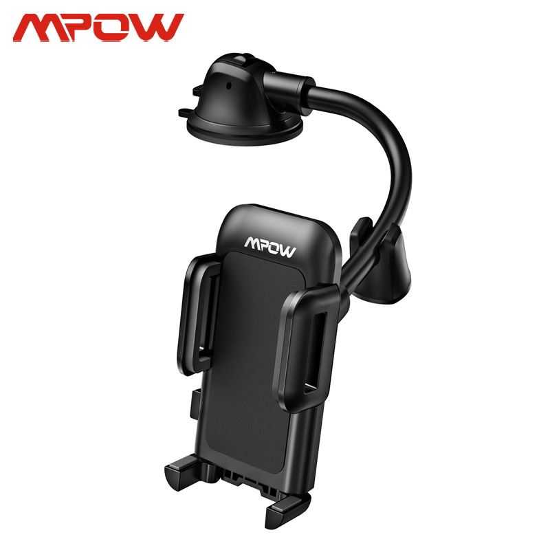 Mpow CA139 Dash & Windshield Car Phone Holder With Long Arm Strong Sticky Gel Suction Cup Car Mount Holder For IPhone 11 Xiaomi