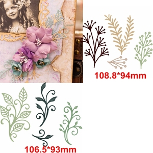 Unique Leaves Decoration Metal Cutting Die Decorative Leaves On Flowers Die Cuts For Card Making Scrapbook DIY New 2019 Crafts