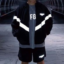 Coats Outdoor Casual Fashion Cool New Full Zipper 3M Fog Essentials Loose Reflective