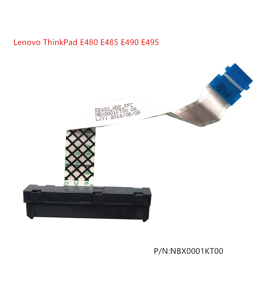 New Original For Lenovo ThinkPad E480 E485 E490 E495 HDD SATA Hard Drive Cable NBX0001KT00