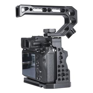 Image 5 - Revestimento metálico para câmera sony, gaiola de câmera fria para sony a7iii a7r3 a7m3 com alça superior