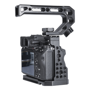Image 5 - UURig C A73 Metal Camera Cage Rig for Sony A7III A7R3 A7M3 Cold Shoe Mount Arca Style Quick Release Mount with Top Handle Grip