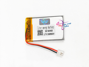 Image 3 - JST XH 2.54mm 503450 523450 3.7V 1000MAH Lithium Polymer LiPo Rechargeable Battery For Mp3 headphone PAD DVD bluetooth camera