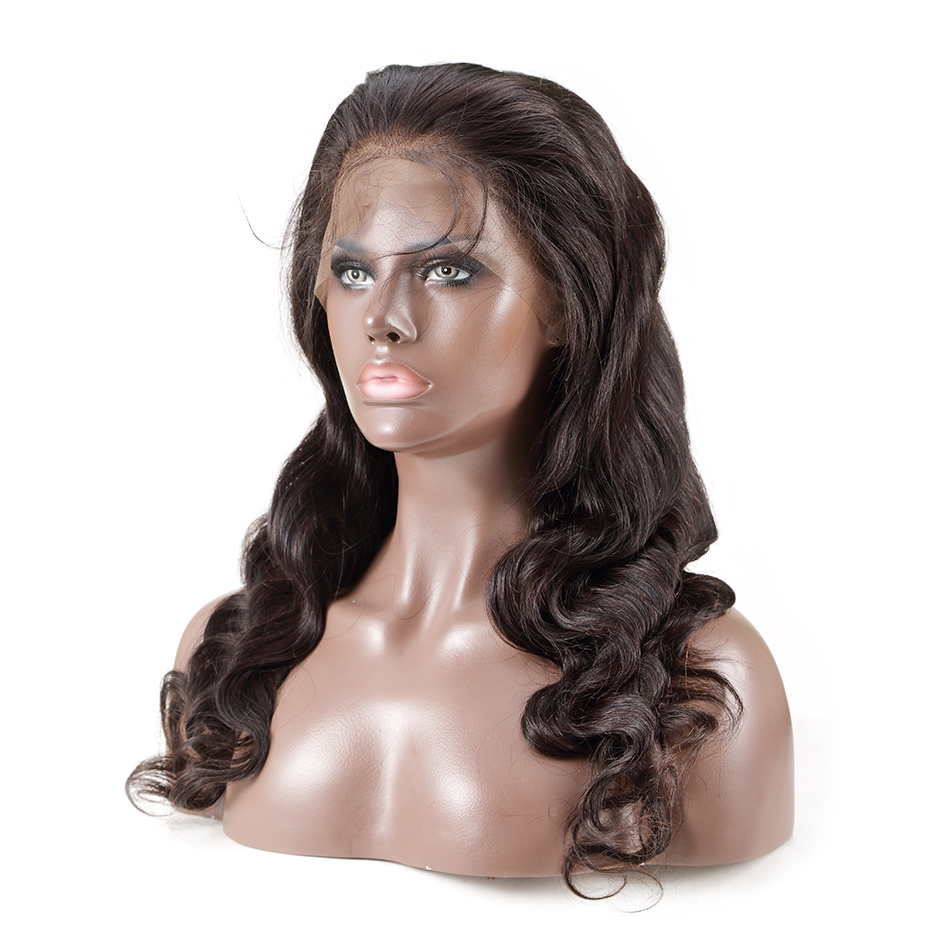 Luvin OneCut Hair Body Wave 360 Lace Frontal Wigs Pre Plucked With Baby Hair Brazilian Human Hair Wigs Free Shipping