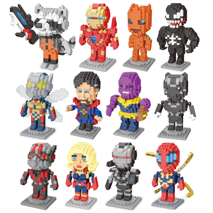 Building Blocks Avengers Endgame Super Heroes Iron Man Captain America Hulk Figures Bricks Friends Toys Compatible With Legoe