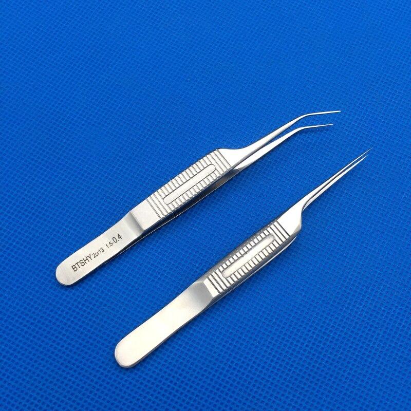 Fue Hair Transplant Forceps Hair Transplant Implanter Curved And Straight 0.4mm Hair Transplant Tweezer