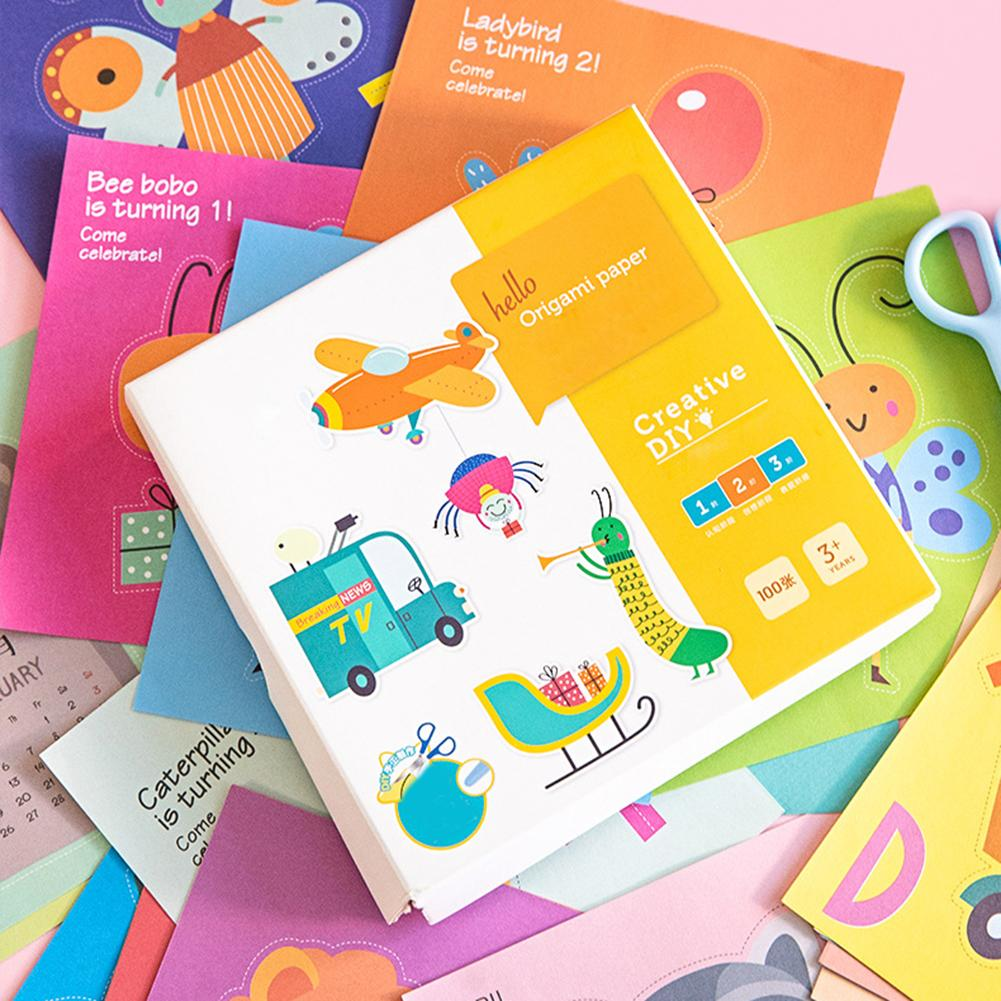 In Stock Kids Origami Paper Set Colorful Multifunctional Pre-school Hands-on Ability Training Origami Paper Set
