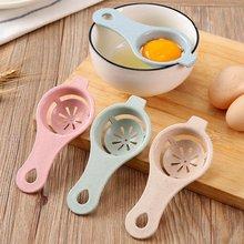 Kuchnia jajko Separator żółtka Food-grade Separator do jajek separacja białek biały żółtko przesiewanie gadżet do gotowania jaj