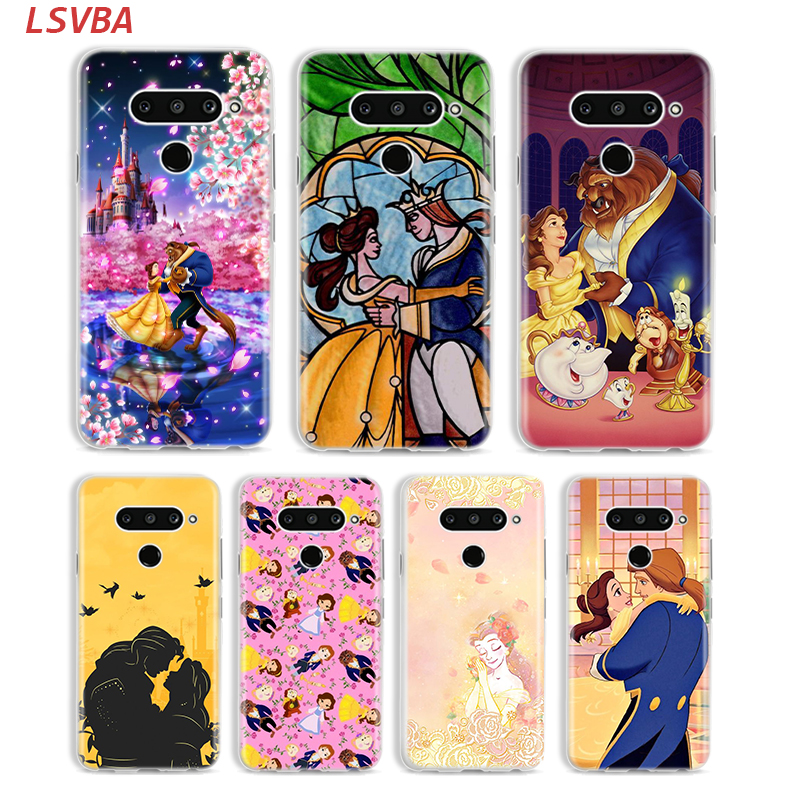 Beauty And The Beast Cover for <font><b>LG</b></font> W20 W10 V50S <font><b>V50</b></font> V40 V30 K50S K40S K30 K20 Q60 Q8 Q7 Q6 G8 G7 G6 <font><b>ThinQ</b></font> Phone Case image