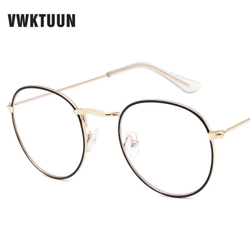 VWKTUUN Oversized Round Eyeglasses Frame Women Mens Optical Glasses Frame Vintage Computer Glasses Retro Flower Glasses Frames