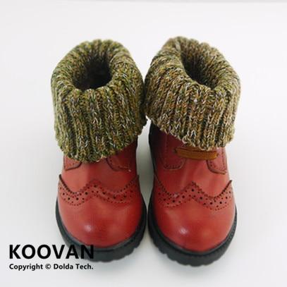 Koovan Children's Boots 2020 Children Ankle Boots Soft Bottom Cotton Warm Boots Retro Boys Girls Leather Children Wool Burring