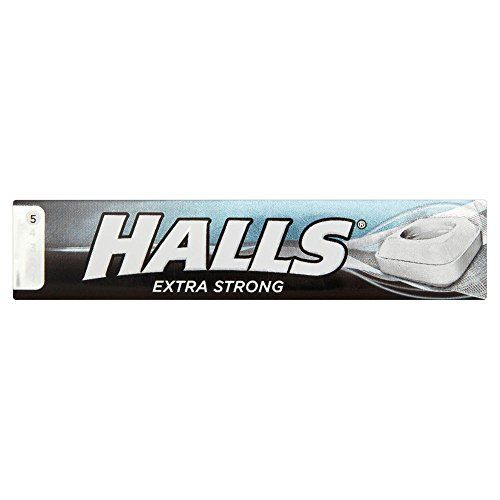 Halls Menthol Extra Strong - 35g - Pack Of 3 (35g X 3 Sticks)