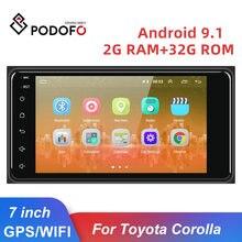 Podofo 2Din Android 9.1 Autoradio Auto Multimedia Speler Radio 2 Din Gps Auto Audio Radio Bluetooth Autoradio Voor Toyota corolla