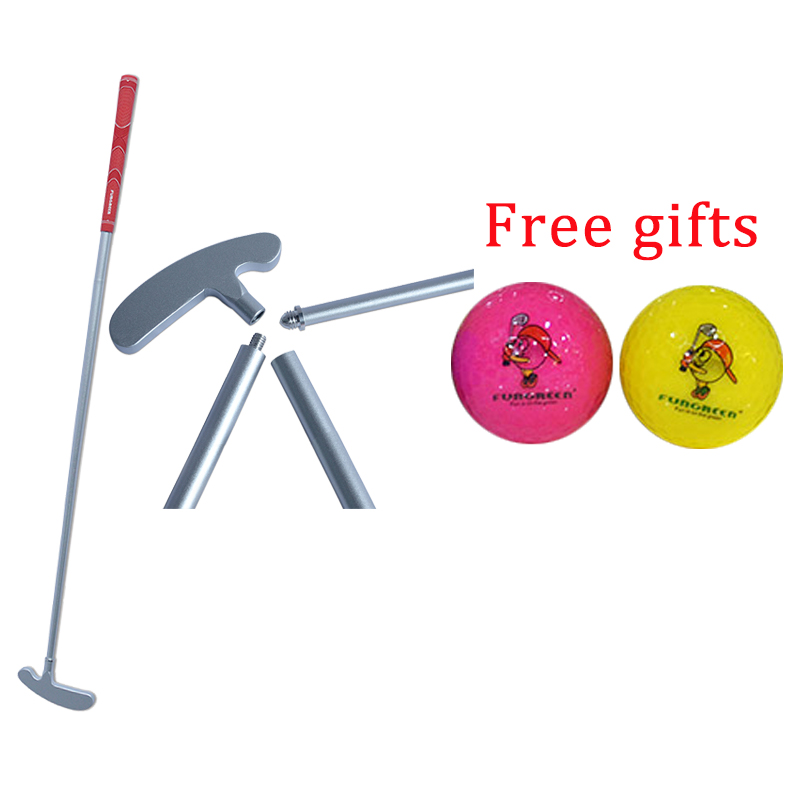 Aluminum Three Section Golf Putter Removable  Divided Into 3 Parts And Mini Rubber Head Foldable Golf Putters With Free Balls
