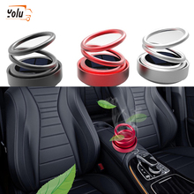 YOLU Car ornaments Solar automatic suspension double ring rotating aromatherapy aluminum alloy circular car