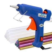 20w pistola de cola arma de derretimento quente pistola de cola quente conjunto diy ferramenta mini pistolas de cola 100v-230v aquecedor de alta temperatura
