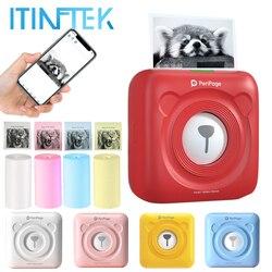 PeriPage Mini Thermal Laber Printer Wireless Bluetooth Portable Pocket Printer Sticker Paper Photo Printing Android IOS Printers
