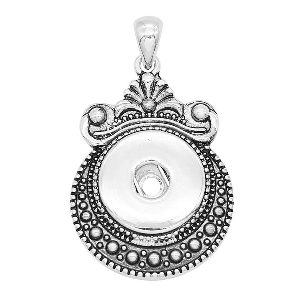 2019 nowy wisiorek i naszyjnik wymienne DIY snap biżuteria 18mm Snap biżuteria zatrzask metalowy przycisk wisiorek naszyjniki bez łańcucha
